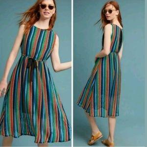 Eva Franco Rainbow Bright Crochet Midi Dress 2